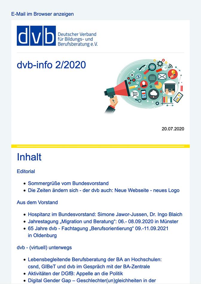 """Heft-Cover """"dvb info"""""""